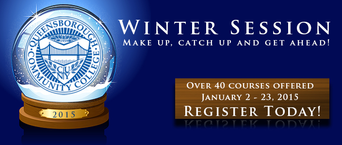 Winter Session classes from January 2 through 23, 2014. Classes begin on January 2, 2014. Register now