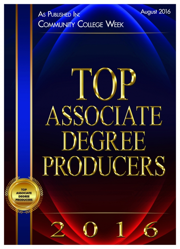 Top Associate Degree Producers of 2016 as published in Community College Week