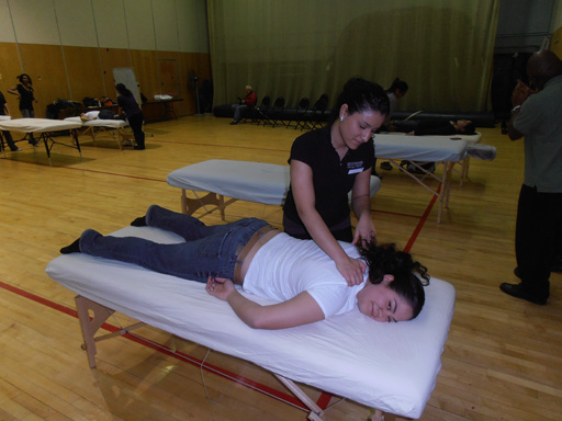 Massage Therapy Students in Action