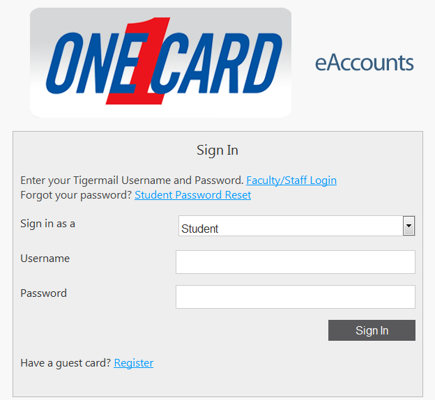 One Card EAccounts Image